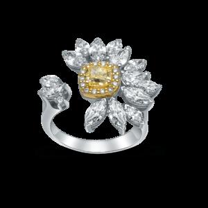 Devous Fancy Yellow Diamond Cocktail Ring
